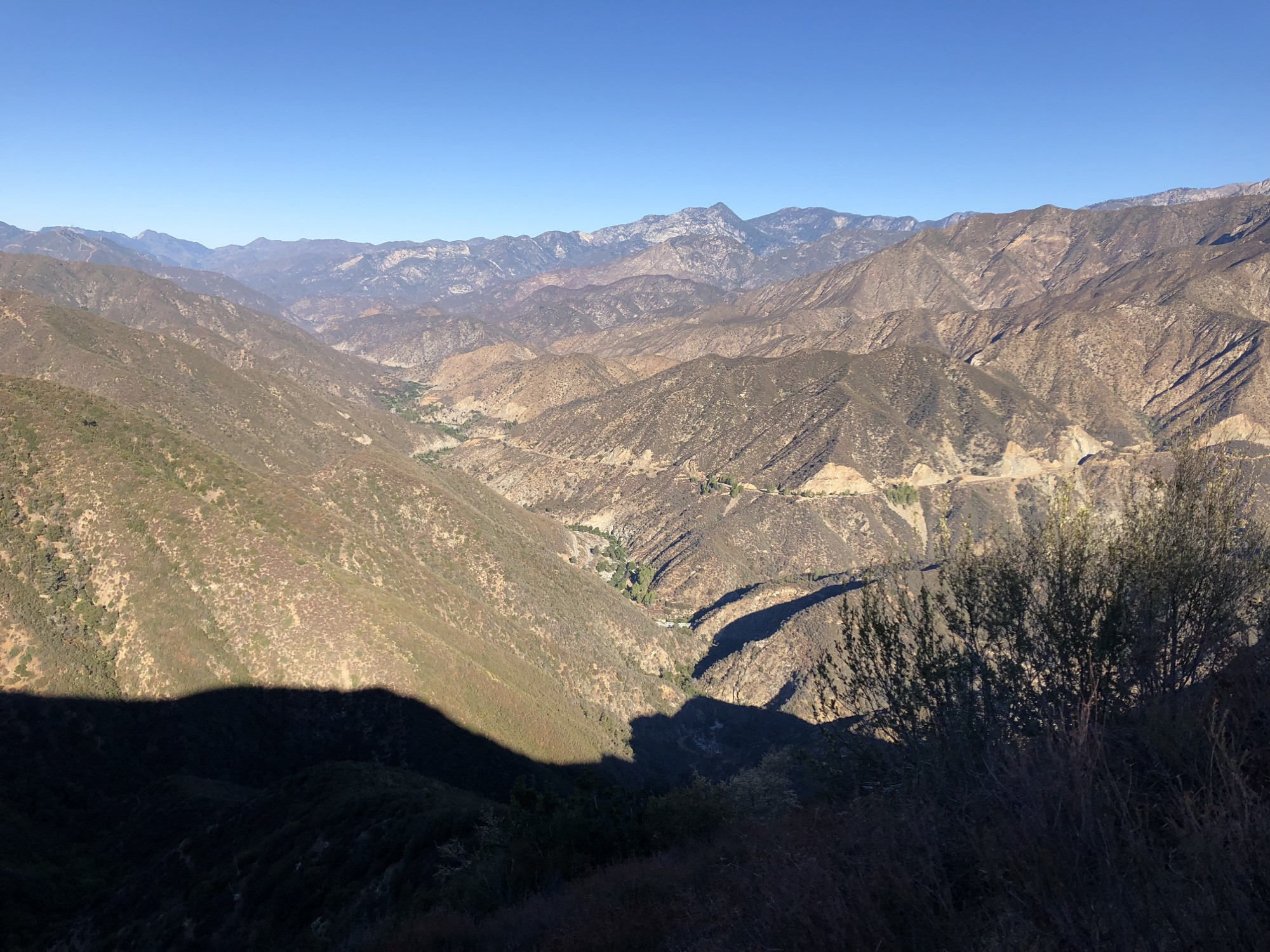 looking down into the valley