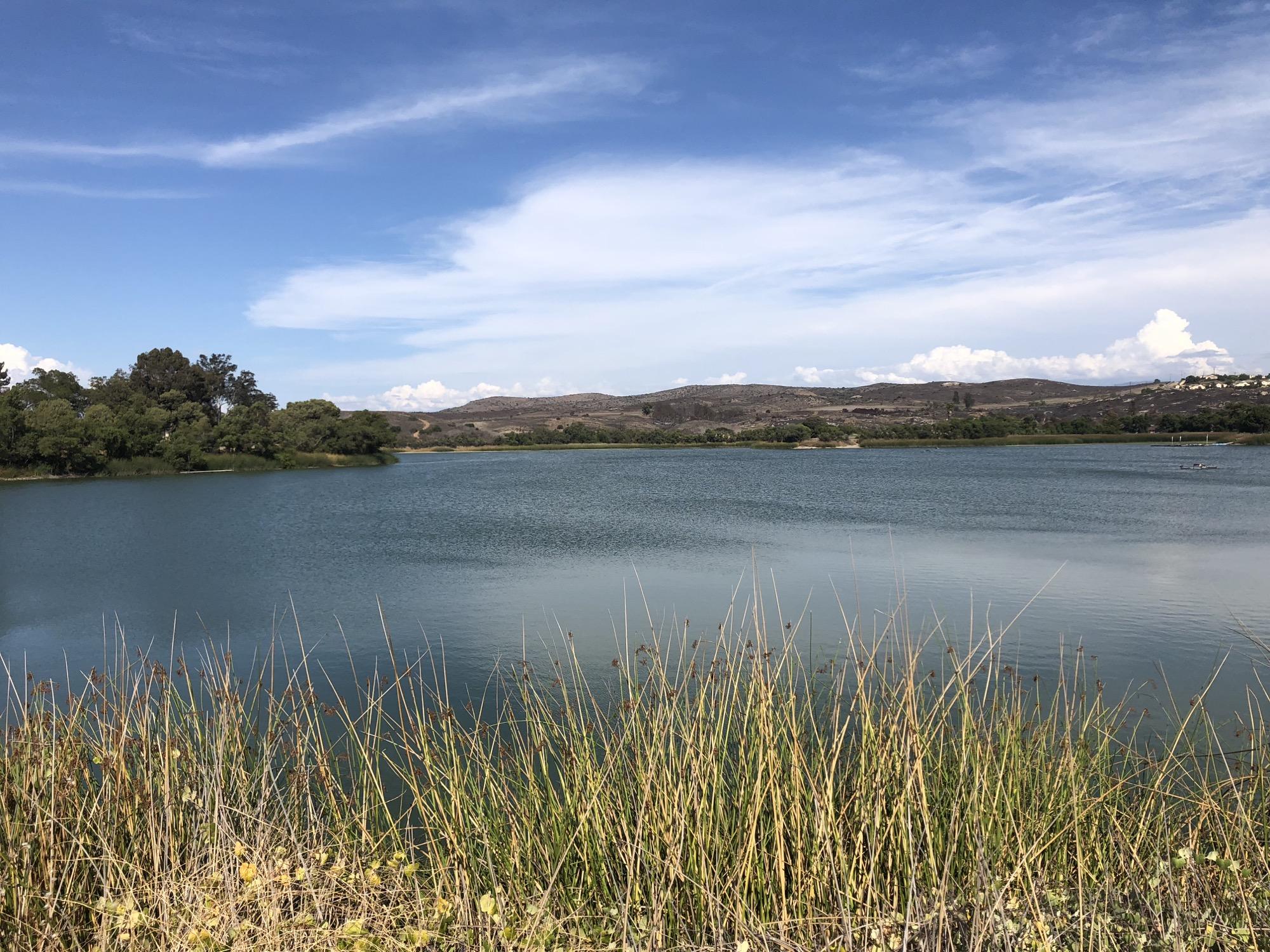 riding around a lake