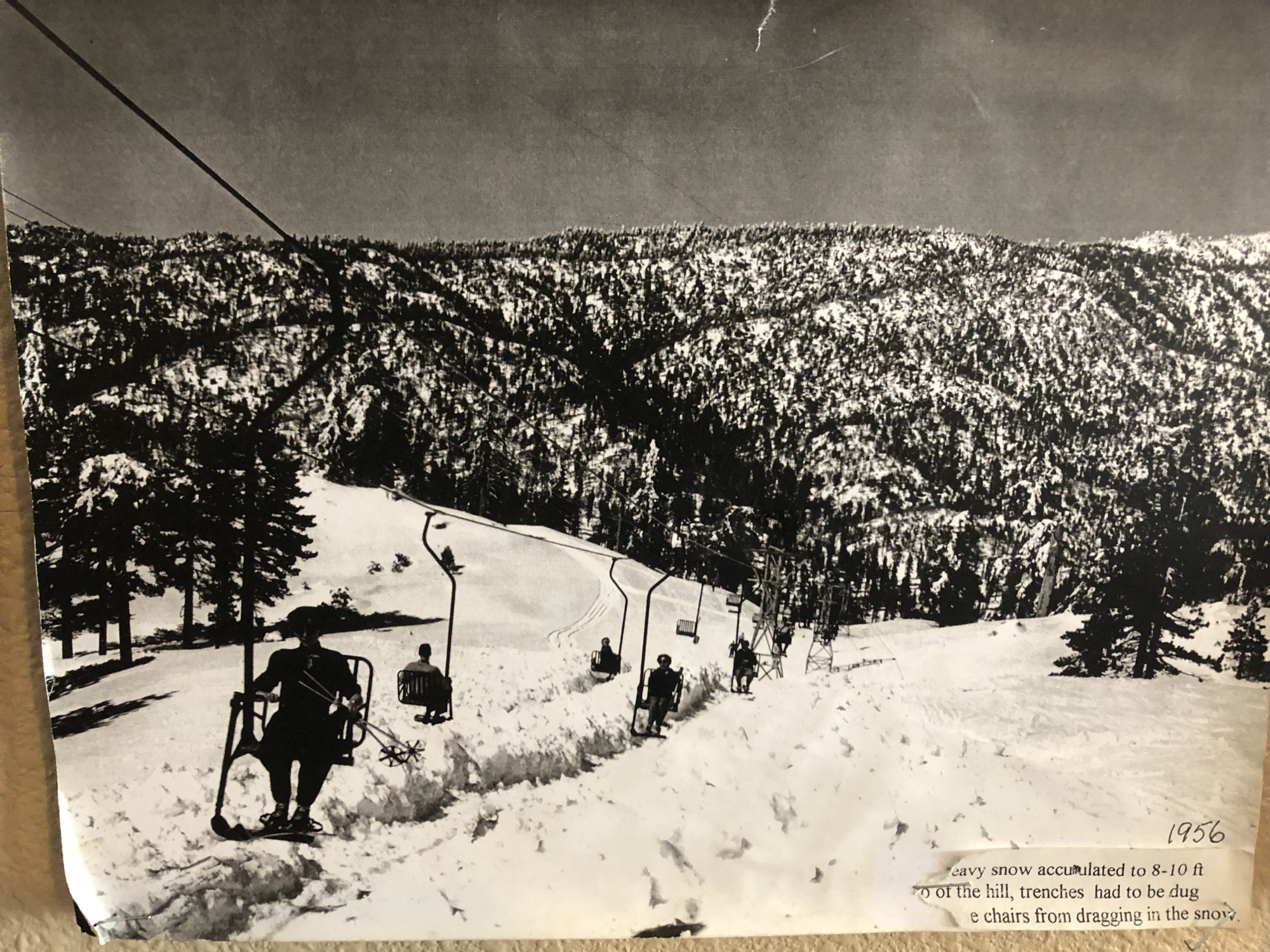 snow valley in 1956