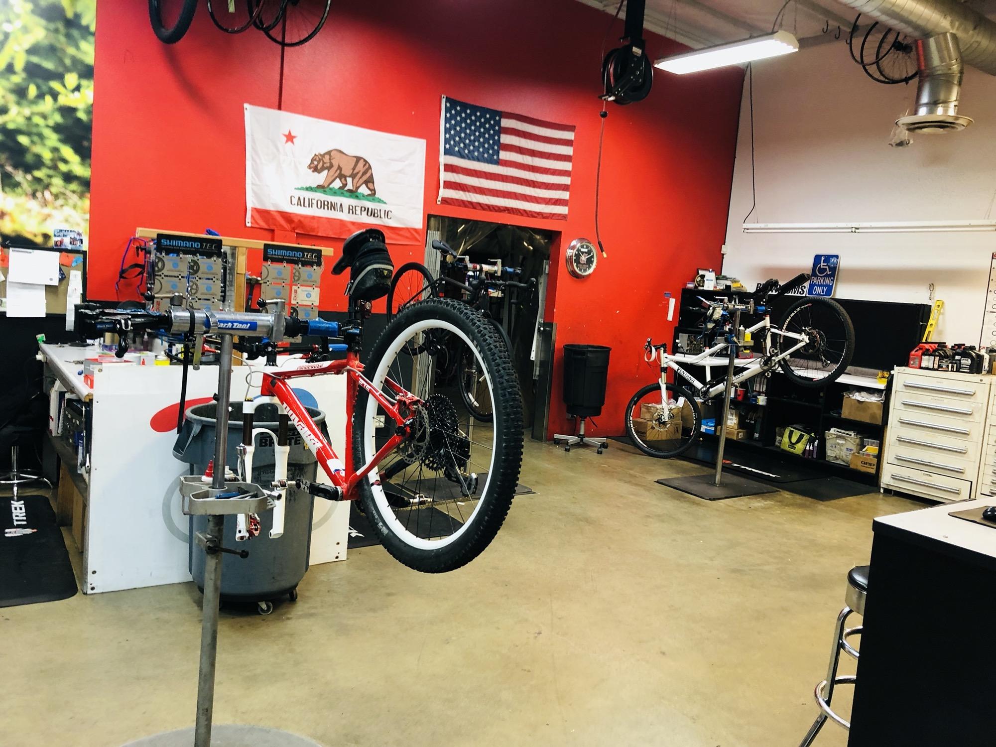 getting my bike fixed